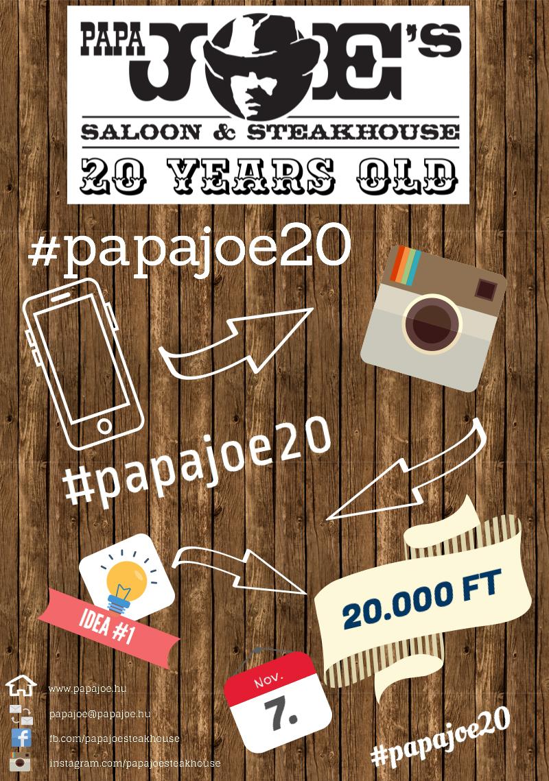 Papa Joe's 20 Instagram nyereményjáték!